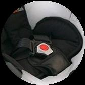 Фото ремней безопасности автокресла Mima Xari Snow White 3 в 1