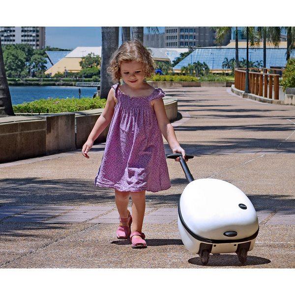 Фото детского дорожного чемодана на колесах Mima OVI White