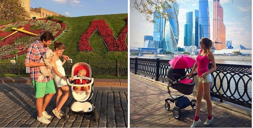 фото родителей с коляской mima xari