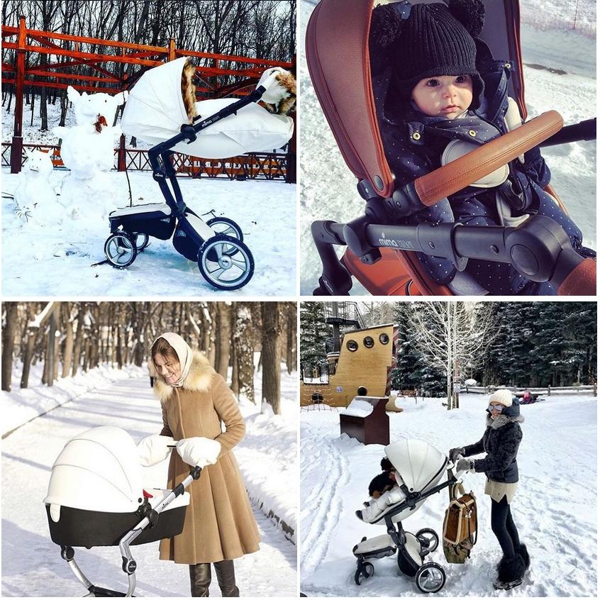 фото коляски  mima xari зимой